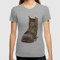 Road Womens Fitted Tee Athletic Grey SMALL