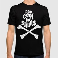 Skulled Mens Fitted Tee Black SMALL