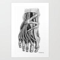 Foot Art Print
