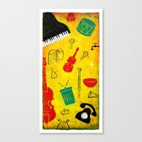 Music and Noise Canvas Print