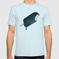 Space Melter Mens Fitted Tee Light Blue SMALL
