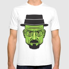 Walter White Portrait.  SMALL White Mens Fitted Tee