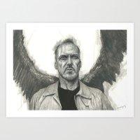 Squark! Birdman / Riggan… Art Print