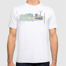 Dog air-cloud pilot. Joy in the clouds collection Mens Fitted Tee Ash Grey SMALL