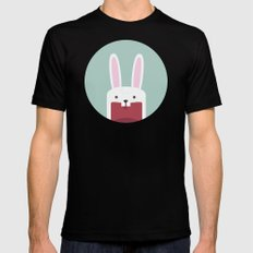Jawdrop Bunny Mens Fitted Tee Black SMALL