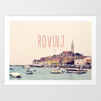 Rovinj, Croatia Travel Art Art Print