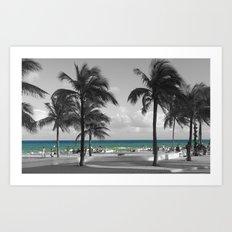 Miami Beach Florida Ocean Art Print