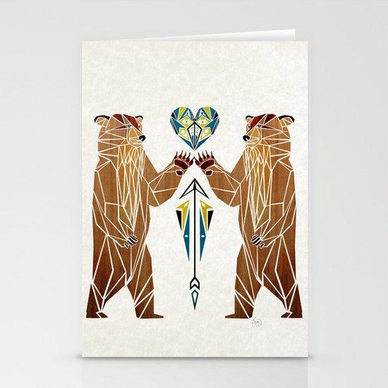 bear love Stationery Card