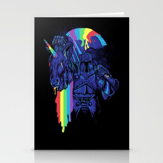 Rainbow harvest (so intense) Stationery Card