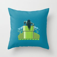 The Wrong Hole Throw Pillow