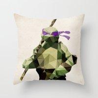 Polygon Heroes - Donatel… Throw Pillow