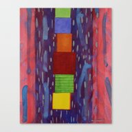 Colourful Piled Cubes Wi… Canvas Print