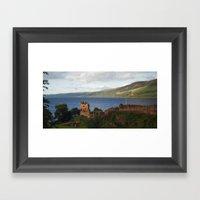 Urquhart Castle And Loch… Framed Art Print