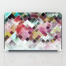 Moody watercolor patchwork  iPad Case