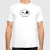 Mushroom Skull Mens Fitted Tee White SMALL