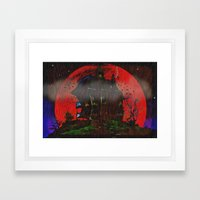 There Was A Crooked Hous… Framed Art Print