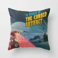 In Search of the Cursed Artifact Throw Pillow