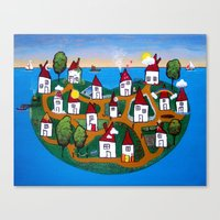 Dream House Island Canvas Print