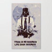 Dark Business. Canvas Print