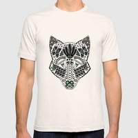 Mint Wolf Head Mens Fitted Tee Natural SMALL