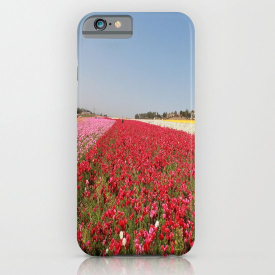 Flower fields iPhone & iPod Case