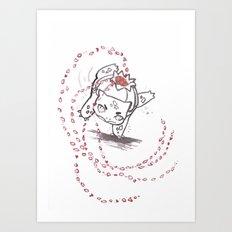 Petal Dance Art Print