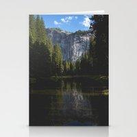 Yosemite National Park - Reflection of Mountains Stationery Cards