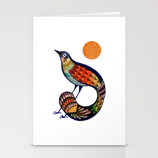 Sun Bird Stationery Card