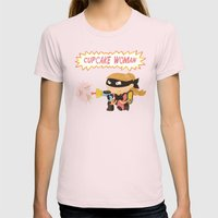Cupcake Woman Womens Fitted Tee Light Pink SMALL
