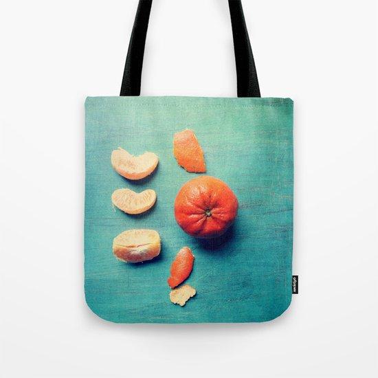 Orange Wedge Tote Bag