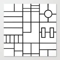 PS Grid Canvas Print