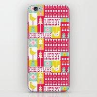 Festive Christmas Collag… iPhone & iPod Skin