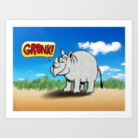 GRONK! Art Print