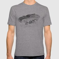Mad Max Interceptor Mens Fitted Tee Athletic Grey SMALL