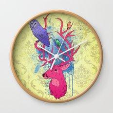 Antlers Variation II Wall Clock