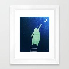 Monster Moon Framed Art Print