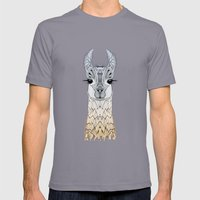 BABY LAMA (CRIA) Mens Fitted Tee Slate SMALL