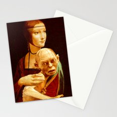 Lady with Gollum Stationery Cards