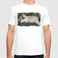 Sleeping Accordion Mens Fitted Tee White SMALL