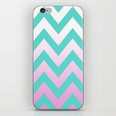TEAL CHEVRON PINK FADE iPhone & iPod Skin
