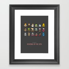 Mega Star Wars: Episode III - Revenge of the Sith Framed Art Print
