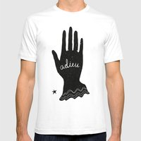 ADIEU Mens Fitted Tee White SMALL