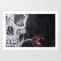 On Death And Dying Art Print