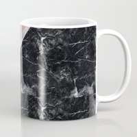 Faux Rose Glitter and Marble Pattern Mug