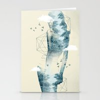 Tree line Facet Stationery Cards