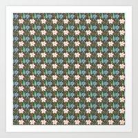 Fun Floral Pattern Art Print