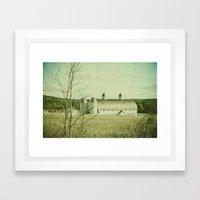 Vintage Rural Framed Art Print