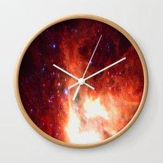 Burning Star Wall Clock
