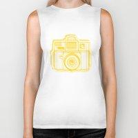 I Still Shoot Film Holga Logo - Reversed Yellow Biker Tank