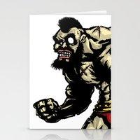 Bear Wrestler - Street F… Stationery Cards